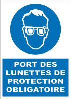 Soa011 port des lunettes de protection obligatoire obligation signalisation industrielle - Port de couche obligatoire ...